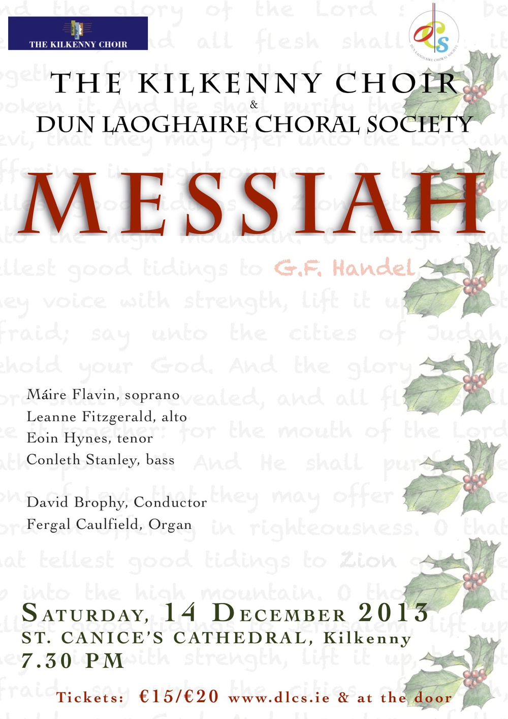 Messiah, St Canice's Cathedral, Kilkenny, 14th December 2013