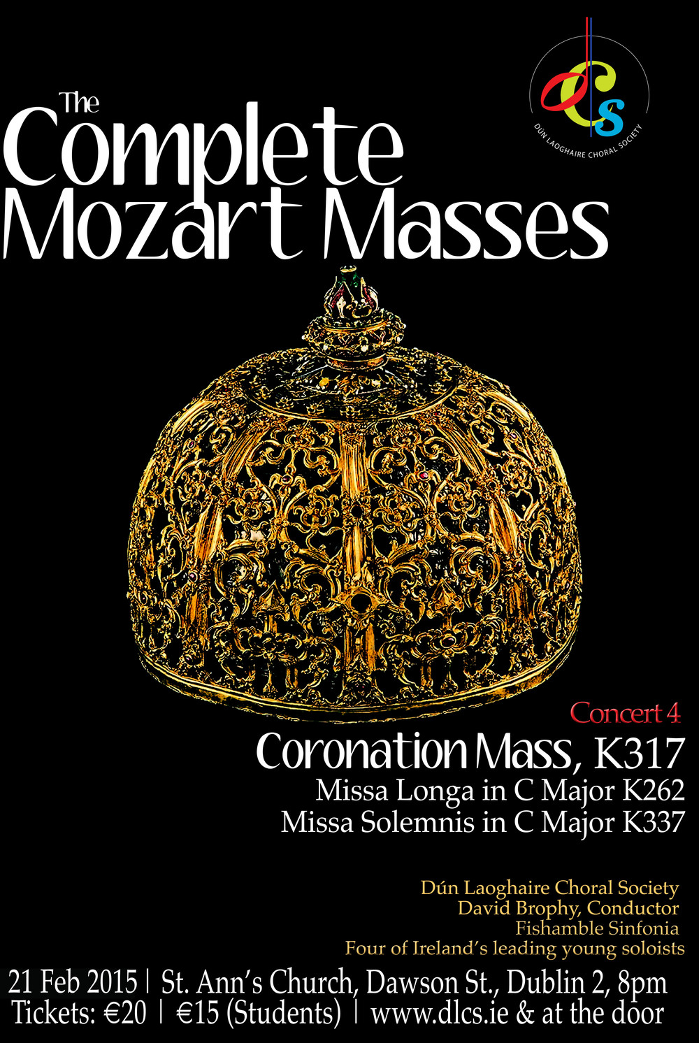 Complete Mozart Masses Concert 4, 21 February 2015