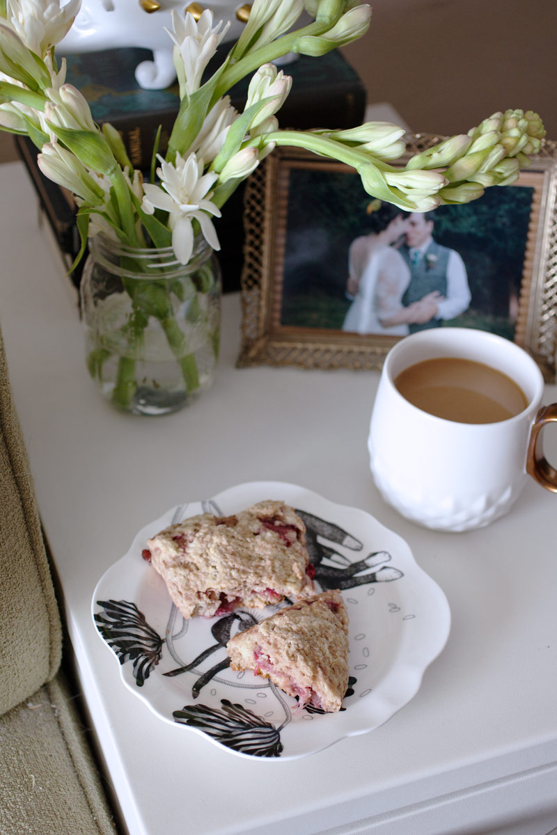 Roasted Strawberry and Fennel Scones recipe