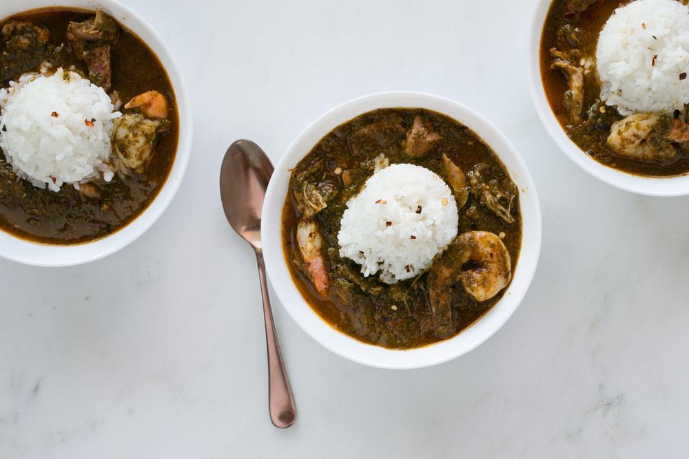 Gumbo z'Herbes recipe