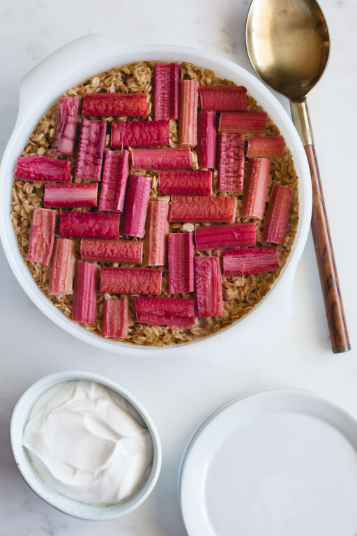 Baked Oatmeal with Rhubarb