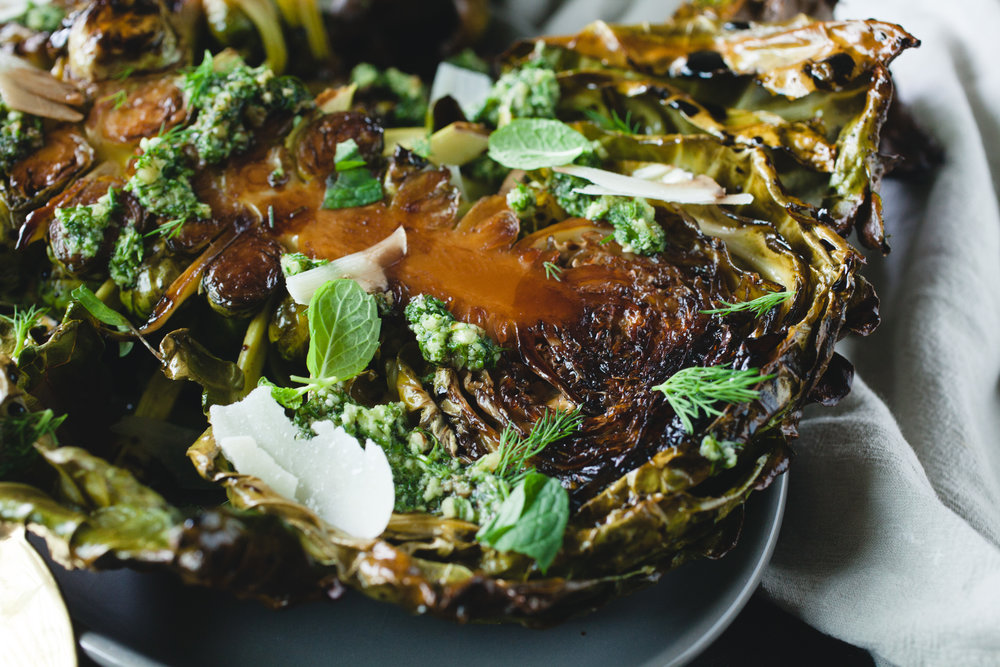 Roasted Brussels Sprout Leaves Recipe