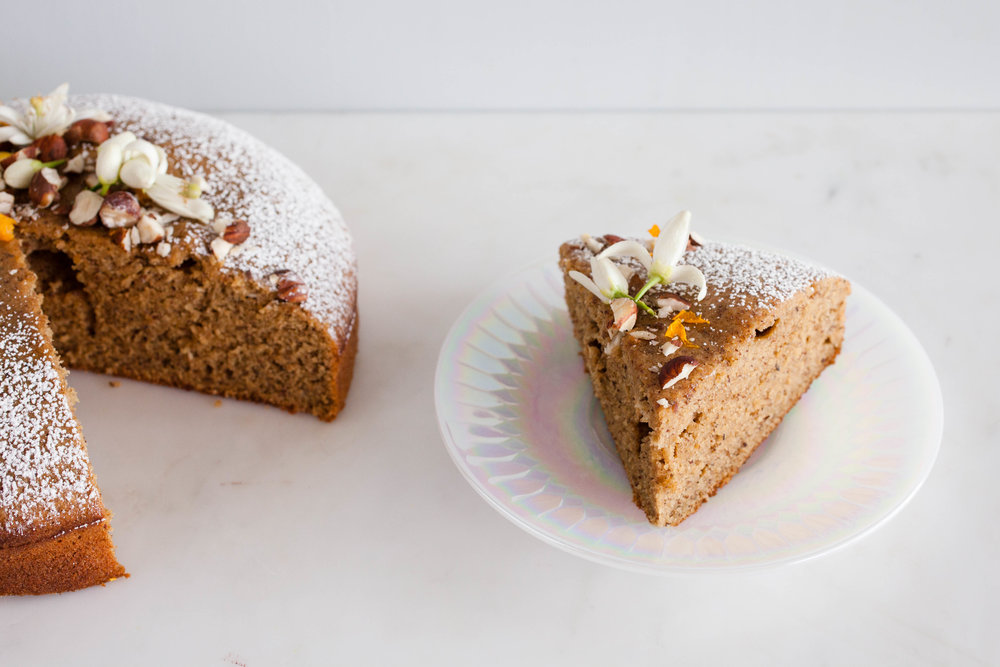 Orange Blossom and Hazelnut Teacake recipe