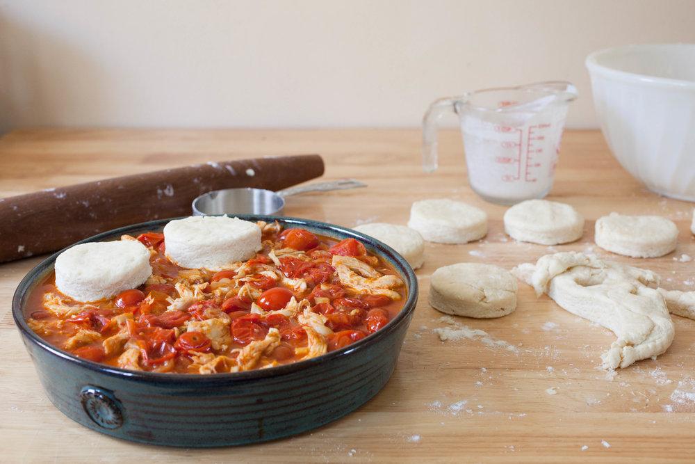 Savory Tomato Cobbler