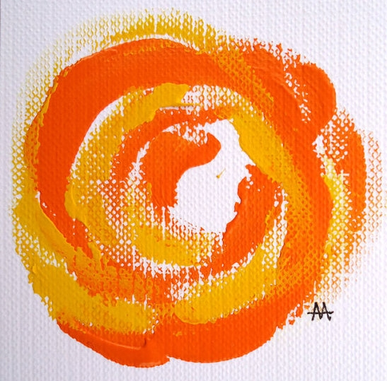 Untitled Rose, Orange and Yellow by April Armistead