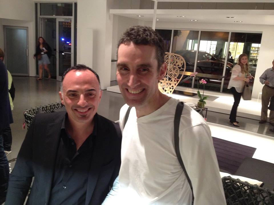 From the left: Cardenio Petrucci, DSEGNARE founder, and David Weeks.