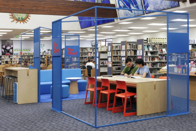 Student zone at Los Angeles Public Library.