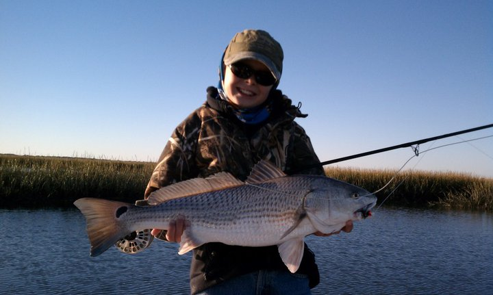 Chalmers Allen 1st Redfish on Fly