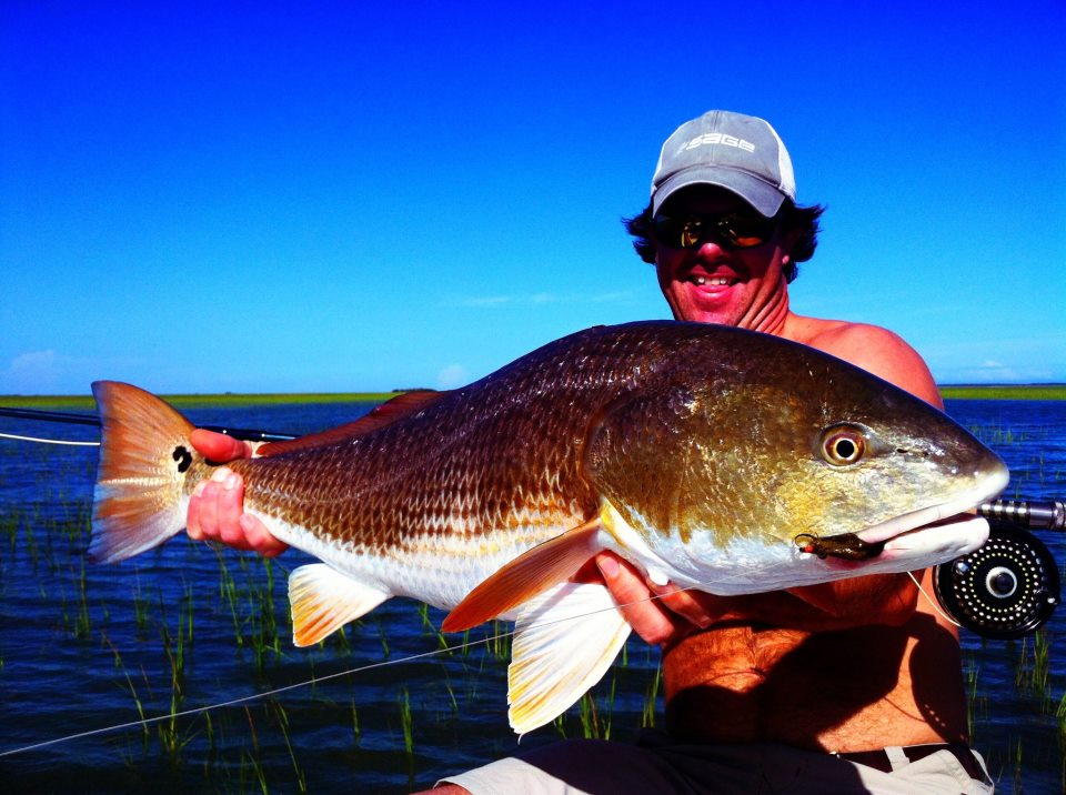 15lb CharlestonTailing redfish on Fly McClain Manning