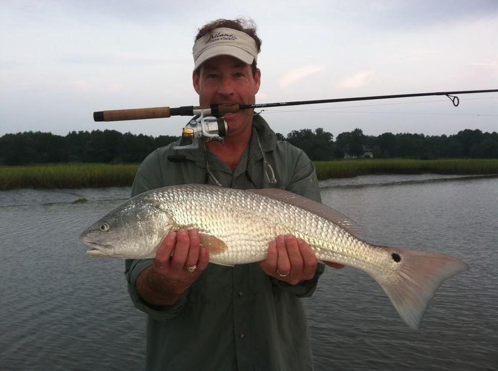 Low Tide Redfishing Charleston, Rhett Crull