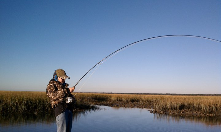 Chalmers Allen First Charleston Redfish on Fly!