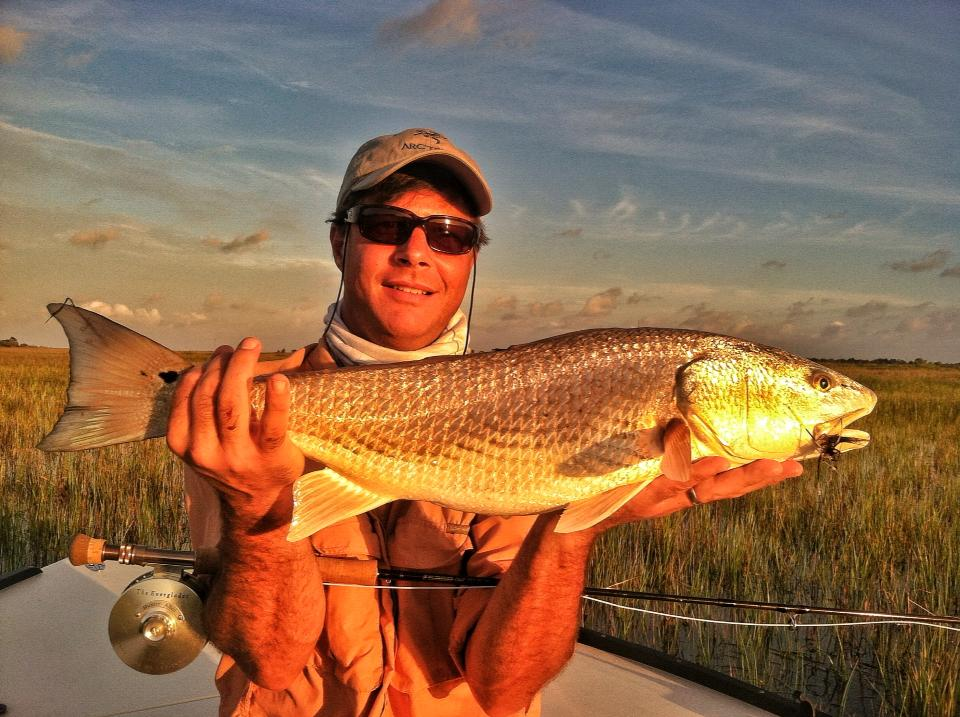 Summer CharlestonTailing Redfish on fly, Bill Ward.