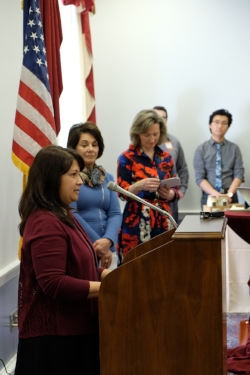 I gave a speech during the Microbusiness Caucus Press Conference. -