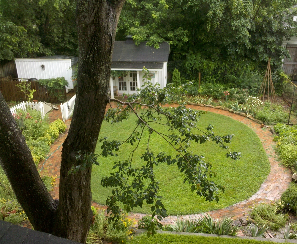 Aerial of Backyard Access