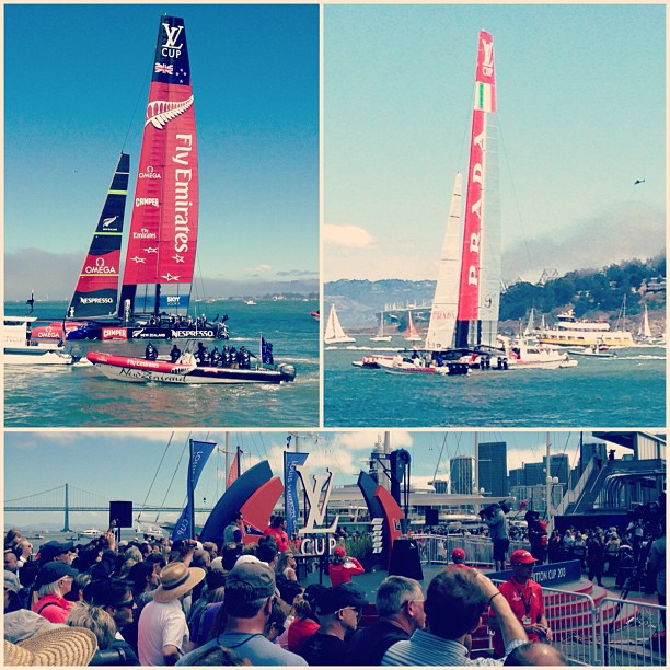Louis Vuitton Cup! Kiwis beat the Italians last Sunday to move on to the America's Cup #tbt #latergram #americascup