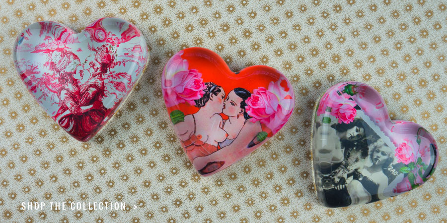 Girls in Love Collection Paperweights