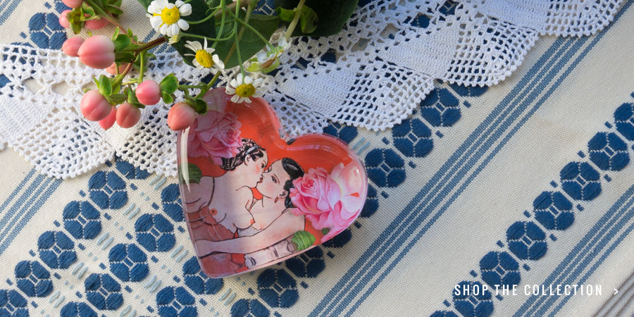 """Girls in Love Collection: """"Novella"""" Paperweight"""