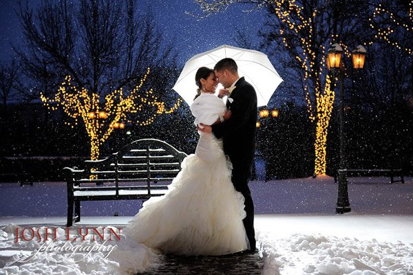 Doesn't this photo just make you wish for snow on your wedding day?  So soft and beautiful.