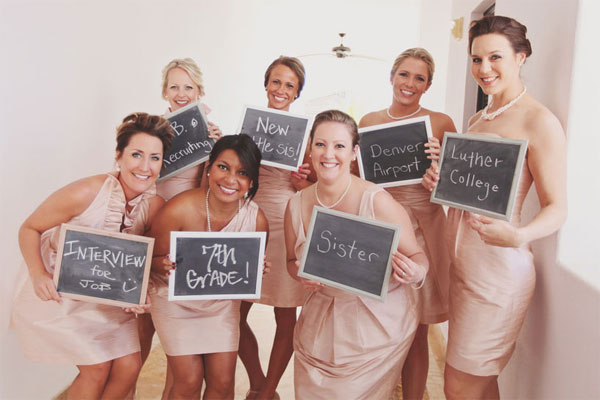 How did you and each of your bridesmaids meet?  Such a cute idea!