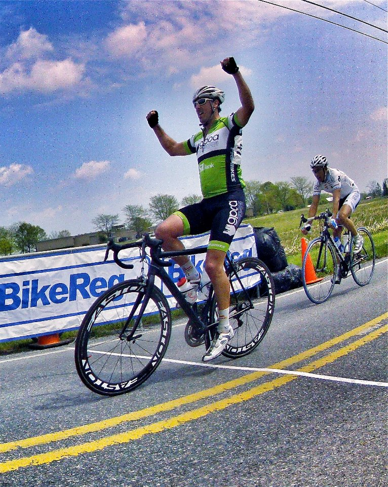 Jared  Babik has always been known as a Criterium racer. In most road races he works for his teammates by covering the early breaks. However, at the  2012 Tour of Farmersville things didn't go exactly as planned and Jared  realized that the breakaway would stick. Overheated and cramping, he  never gave up and he found a way to win even in conditions that were not favorable to his talents