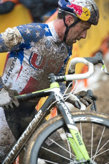 Keep your eye on the ball! Johnson's main season goal was Cyclocross World Championships in early February