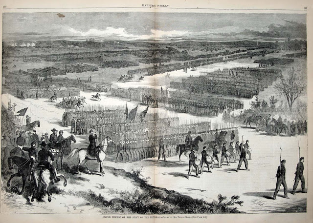 McClellan reviews the Army of the Potomac