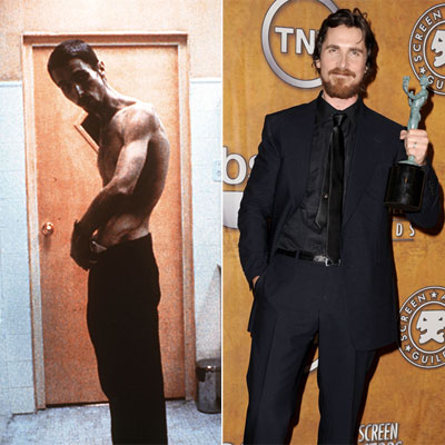 "The things some people will do just to win an Oscar! For ""The Fighter"", Christian Bale got down to 122 pounds (he is 6 feet tall)"