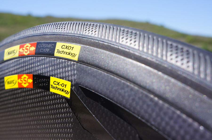 "Who says there's no room for innovation on tires? Unfortunately, Mavic's CX01 ""blade"" is not UCI legal"