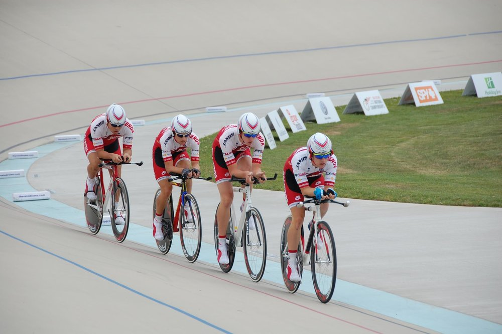 2012 Young Medalist Bronze medal winning Team Pursuit Squad: Will Pestcoe, Chris Meacham, Greg Ratzell and Zach Houlik