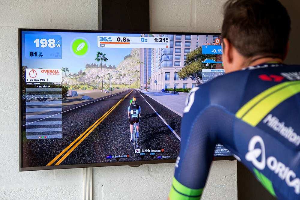 VR apps such as Zwift can make indoor riding a lot less boring, but most riders should still reduce their volume if riding endurance rides indoors. It's also important not to get sucked into the competitive aspect if the goal is Endurance. Save the intensity for your hard days!