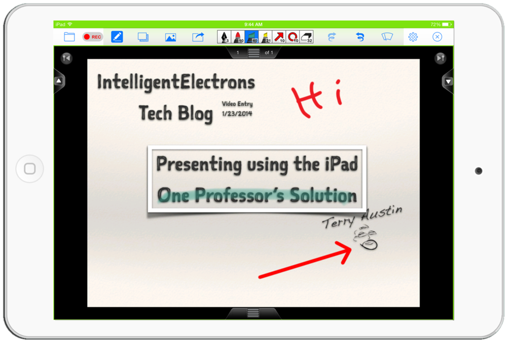 Using annotation panel (top center) I have added red marker, green highlighter and red arrow.