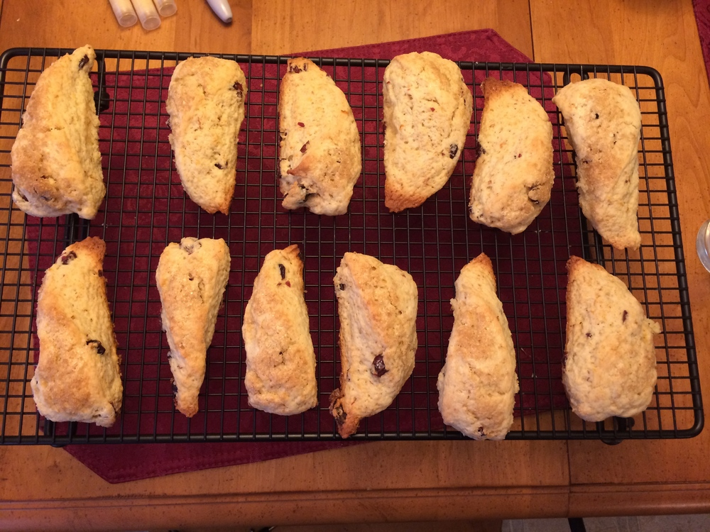 Blood Orange & Cranberry Scones