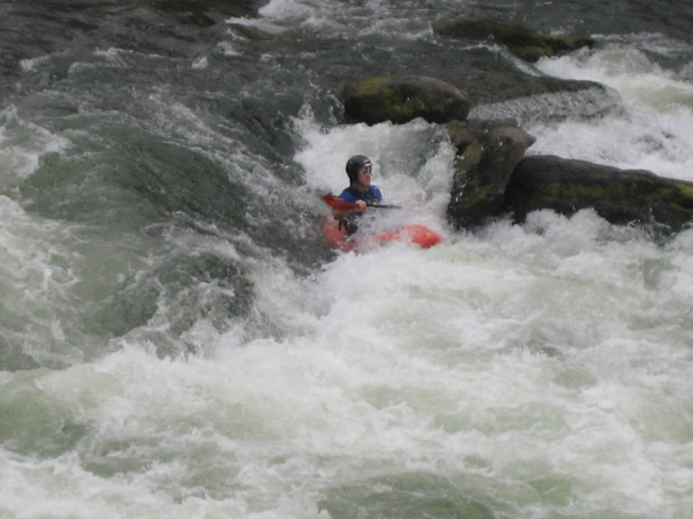 Kitchen Sink rapids on Beartrap Canyon, lower Madison River, Montana   When stuck in a hydraulic, keep paddling.