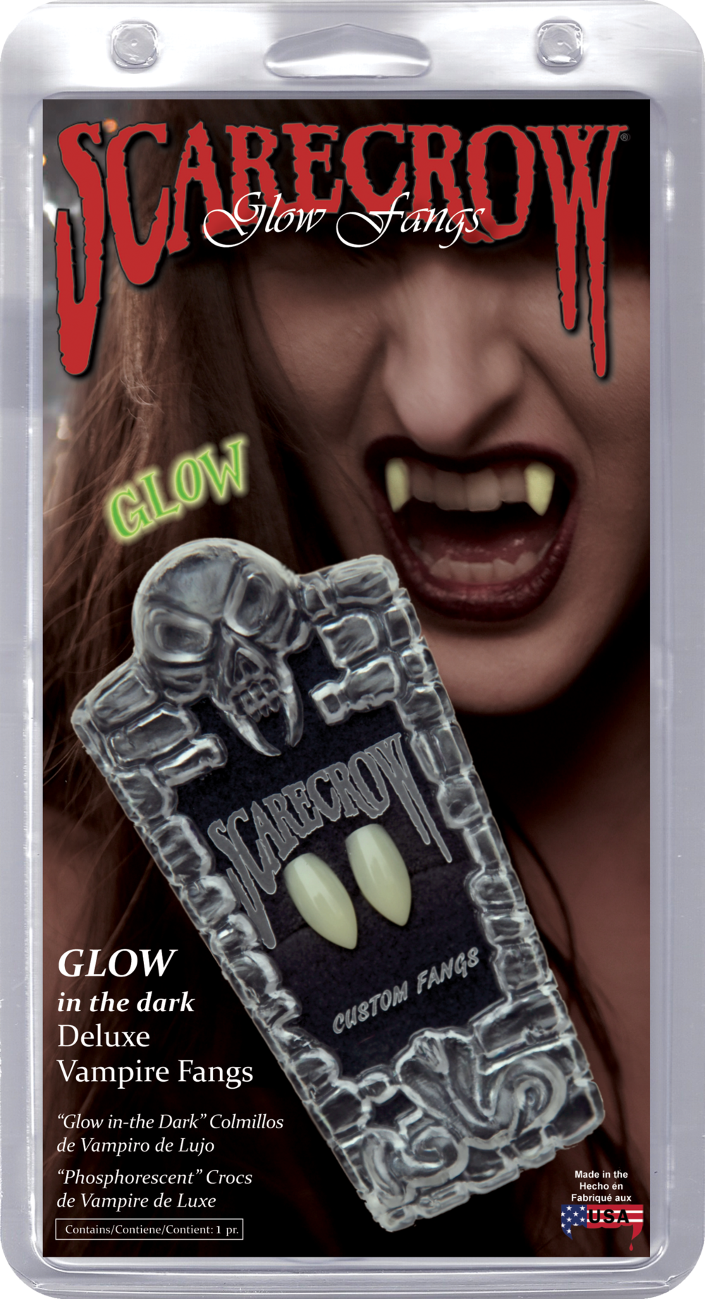 Classic Glow-in-the-Dark Deluxe Custom Fangs (GL101)