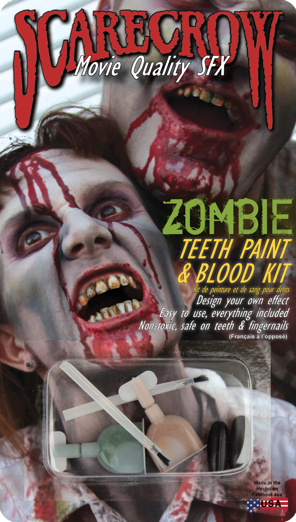 Zombie Teeth Paint & Blood Kit (ZTP104)