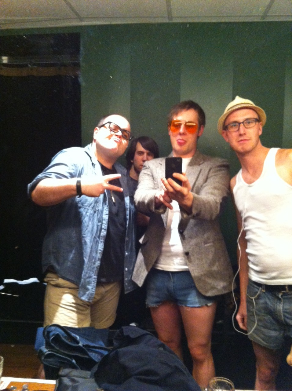 In order: Josh Murray, Eric Miinch and Evan Arppe. Ely Henry is in the background. http://elyhenry.tumblr.com/