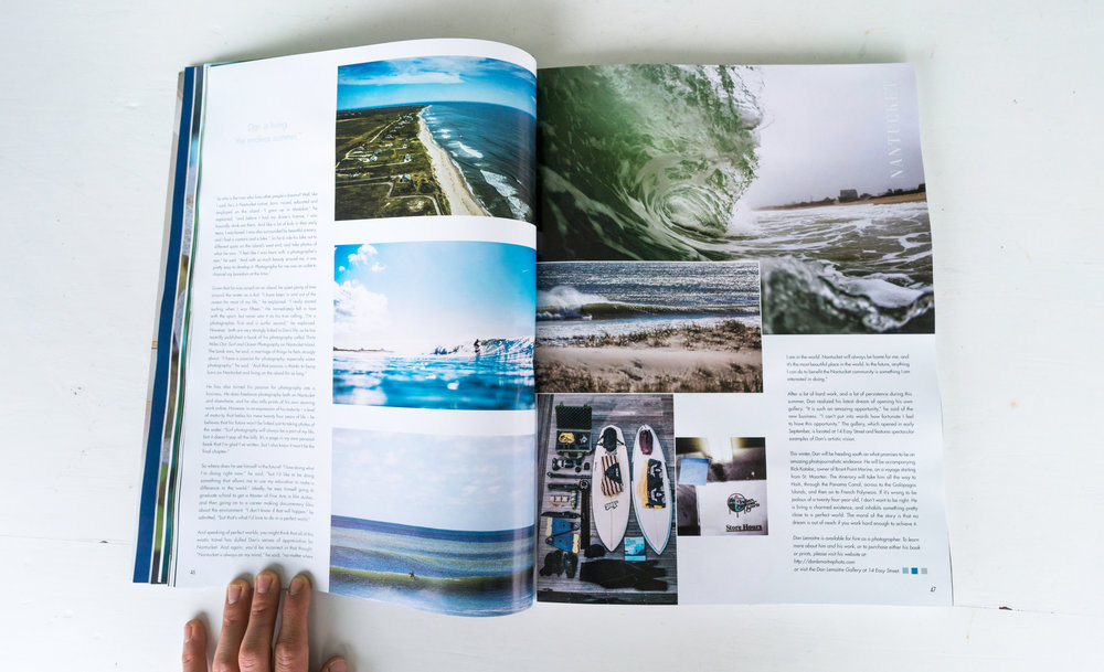 """Surfing the World"", 12-page feature in Only Nantucket, Winter 2017"
