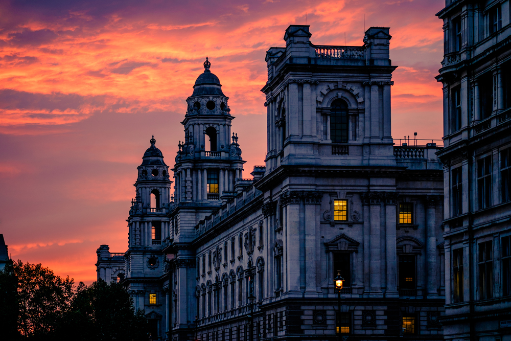 Sunset on Bridge St. Westminster, London