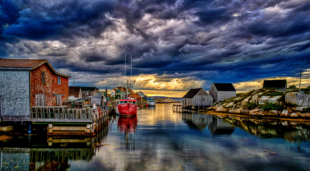 The finished image for my Peggy's Cove image