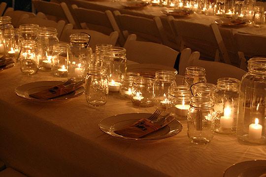 mason jar candle centerpiece