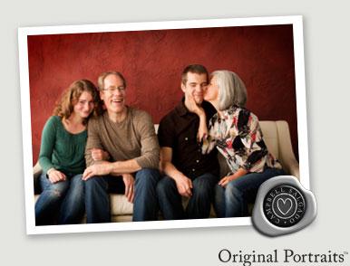Family photo studio portrait at Campbell Salgado Studio.