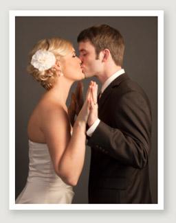 couple studio photography portland kissing by Campbell Salgado Studio