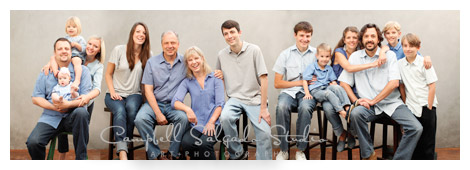 large family portrait by Campbell Salgado Studio
