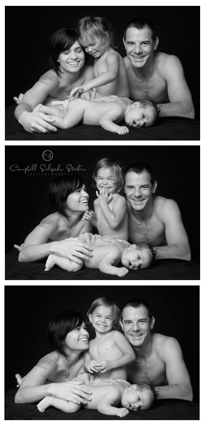 newborn and family photography at Campbell Salgado Studio
