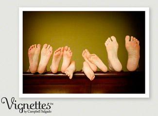 Family portrait of a families feet by Campbell Salgado Studio.