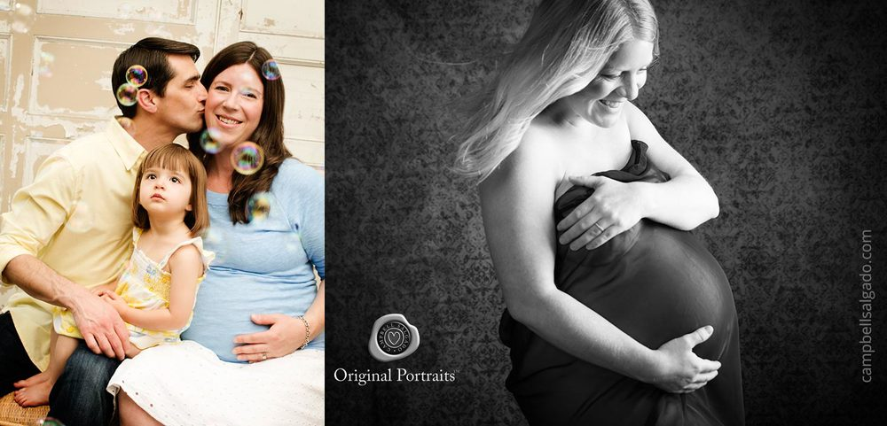 Black and white maternity photography for families by Portland, Oregon maternity photographers at Campbell Salgado Studio.