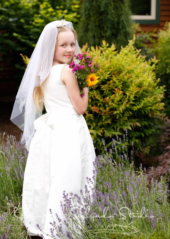 First Communion Photos on location by Campbell Salgado Studio in Portland, Oregon.