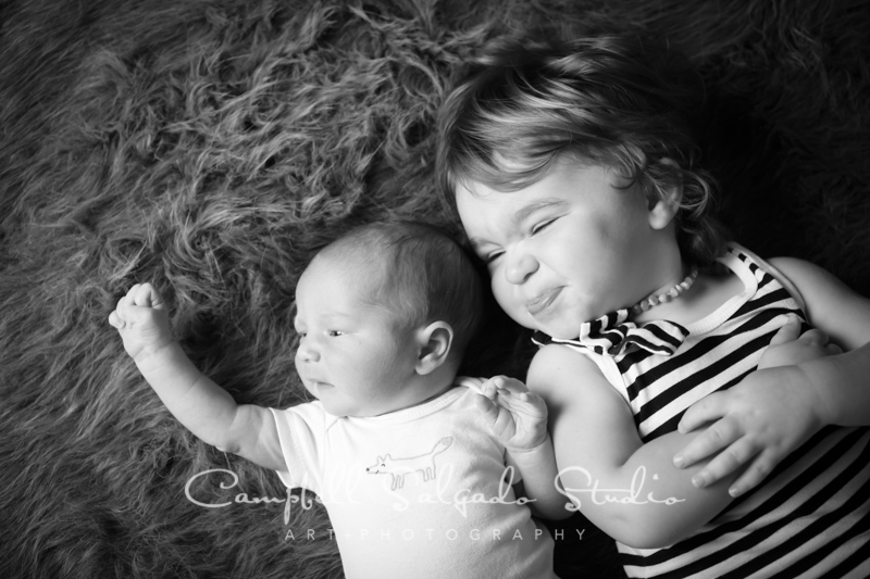 Newborn + child photography in black and white by Campbell Salgado Studio, Portland, Oregon.