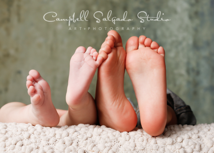 Baby and toddler feet photography by Campbell Salgado Studio in Portland, Oregon.