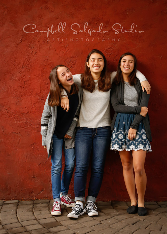 Portrait of girls on teen background by teen photographers at Campbell Salgado Studio in Portland, Oregon.